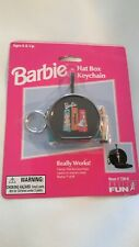 ©1999 Barbie Hat Box Keychain by Basic Fun, Mattel Vintage New ~ Collectible