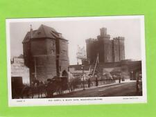 Old Castle & Black Gate Newcastle on Tyne Horse & Carriage RP pc Rotary Ref C615