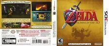 Legend of Zelda Ocarina of Time Nintendo 3DS Cover Art Work (No Game, No Box)