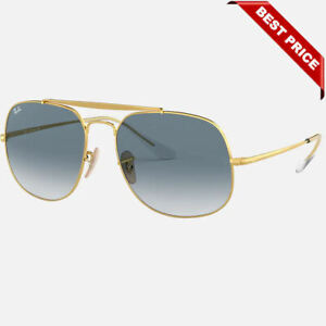 Ray-Ban General RB 3561 001/3F Gold Aviator Sunglasses Blue Gradient Lens