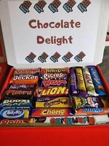 Personalised 21 Bar Chocolate Sweet Gift Box Hamper Cadbury Nestle Birthday