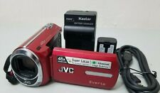 Jvc Ms-230 8 Gb Digital Dual Memory Camcorder - Red *Good/Tested*