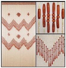 Wood Beaded Curtain-Door Beads-52 STRANDS-Wooden Boho Bohemian Doorway Curtain