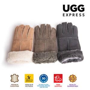 UGG Unisex Gloves Stitching Gloves Suede Sheepskin Gloves
