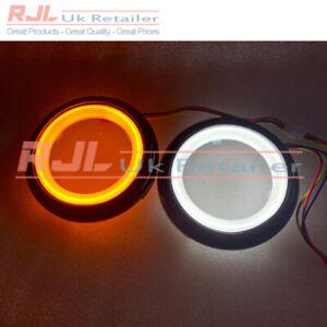 LED Black Bezel Dual Angel Eyes Indicator Amber Front Fog Lights St Mk2.5 08-11