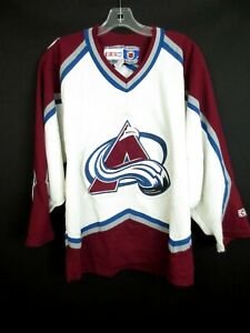 COLORADO AVALANCHE CCM Stitched Hockey Jersey Shirt Men's Small [5-SC]