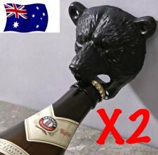 X2 Bear Head Wall Mounted Bottle Opener Beer Bar Corona Iron Heavy Duty Heineken