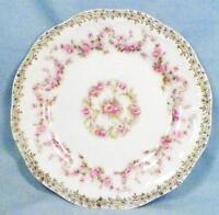 Orleans Bread Plate Z S & Co Bavaria Pink Roses Gold Flowers Porcelain ZSC32