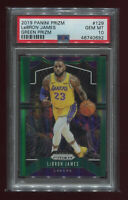 LEBRON JAMES 2019 Panini Prizm Green Prizms #129 PSA 10 GEM MINT Lakers INVEST!