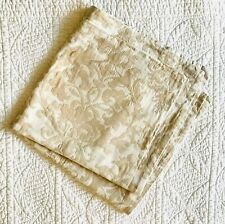 Pottery Barn Neutral Jacquard Cotton Blend Medallion Euro Pillow Sham ~ EUC