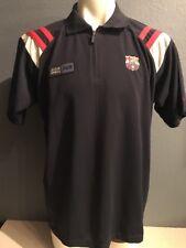 FCB Barcelona Official Football Soccer Polo Shirt FCB Jersey Size XL blk