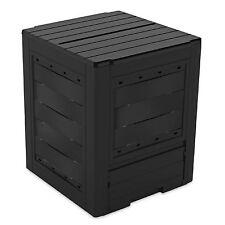 Compostiera giardino da esterno in resina nera 260 litri 60x60x73h cm