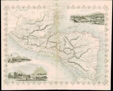 More details for 1851 antique tallis map -