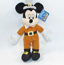 NEW NWT Disney Mickey Mouse Pilgrim Plush Toy Factory Thanksgiving