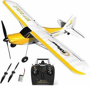 Razza Top Sky TR-C385 Giallo & Eagle Bianco 4 Canali Telecomando Aereo Nuovo