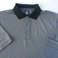 Footjoy FJ Mens Size Large Black Short Sleeve Polyester Spandex Golf Polo Shirt