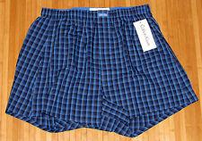 Mens Calvin Klein Cotton Woven Boxer Shorts P1818 Blue Plaid-S