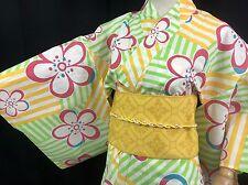浴衣 Yukata japonais - Fleurs - Import direct Japon 1412