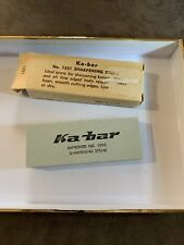 New ListingVintage Ka-bar Improved No. 1000 Sharpening Stone 1978 Brand New