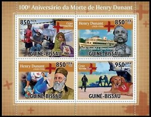 Guinea Bissau MNH 2010 SS, 100th Death Ann.  of  Dunant, Red Cross, Medicine