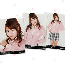 """AKB48 Minami Takahashi B.L.T. 2011 """"Sakura Book"""" 3 photos complete set"""