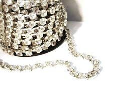 Strassband in Metallfassung, Silber / Kristall, 50 cm #S6