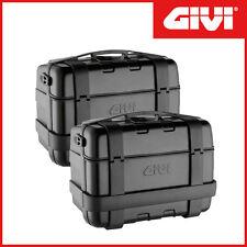 Valises Latérales GIVI ] Trekker Monokey 46 Lt Finition Aluminium Noir -