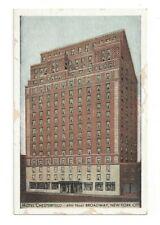Postcard New York NY Hotel Chesterfield New York City Standard View Card