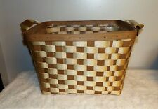 Longaberger 2007 To-Go Extra Large Tote Basket with Straps and Protector Set