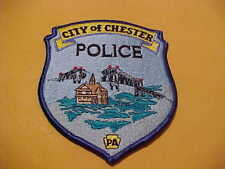 CHESTER PENNSYLVANIA  POLICE PATCH SHOULDER SIZE  NEW