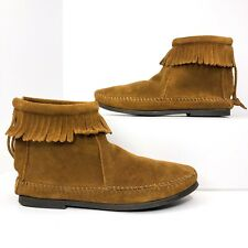 Minnetonka Womens Size 5 Brown Suede Fringe Ankle Boots