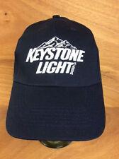 Keystone Light Beer Embroidered Blue Hat Adjustable Hook & Loop Strap NEW & F/S