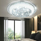 Luxus LED Decken Lampe Wohn Zimmer Chrom Glas Wand Leuchte Kristalle Muster rund