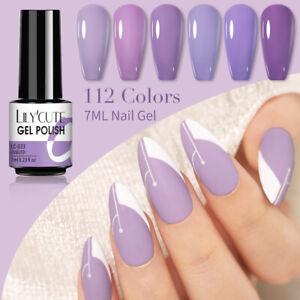 LILYCUTE Nail 138 Solid Color Gel Polish Soak Off UV LED Nail Art Gel Varnish