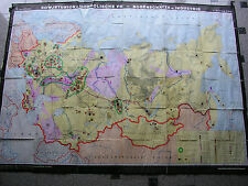 Wall MAP Soviet Mongolia Gold Oil 223x165 1975 Russia Vintage Wall Card Oil