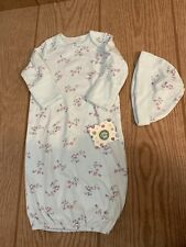 Little Me 0-3 Month 2Pc Mint Print Sleep Gown W/Hat