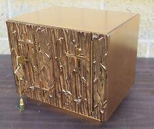 Nice Older Small Bronze Tabernacle with Keys + (CU586) Church safe + Ciborium