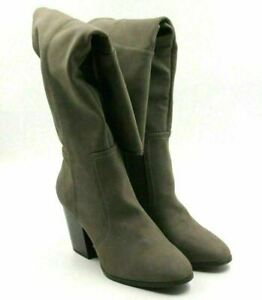 Easy Street Maxwell Women Knee High Riding Boots Size US 9M Grey Matte