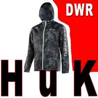 MEN'S HUK RAIN JACKET CYA PERFORMANCE FISHING RAIN WIND GRAY BLACK L XL 2XL