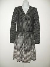Womens Masseys Black Gold Zip Up Sweater Dress Size:  M NEW Holiday