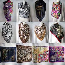 "*US SELLER*10pc wholesale 39"" retro boho animal print satin large square scarf"
