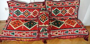 Turkish Kilim Corner Set Sofa Cushion Pillowcase Ottoman Lounge Couch Case DHL