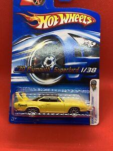 Hot Wheels 2006 FIRT EDITIONS '70 Plymouth Superbird 1/38 New/Card  RARE YELLOW