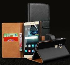 Genuine Real Leather Wallet stand case for Huawei Mate S & Screen Protector