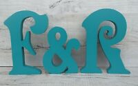 large wooden letters any 2 letters plus & sign painted wooden letters 20cm
