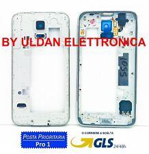 CORNICE MIDDLE FRAME PER SAMSUNG GALAXY S5 G900F COVER TELAIO CENTRALE ARGENTO