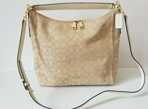 NWT Auth Coach CELESTE Hobo F58327 Convertible LIGHT KHAKI $375