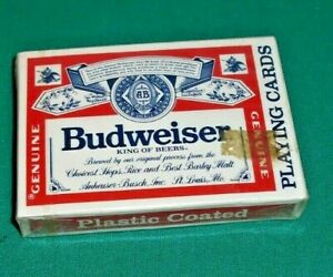 Deck Of New Sealed Collectible Budweiser Playing Cards Beer Adult Beverage