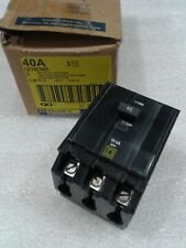 Qob340 Square D 3 Pole 40A 240Vac 50/60Hz Circuit Breaker New