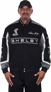 """NEWEST"" Shelby Cobra Jacket Men's Black Twill Jacket JH Design FREE PRIORITY"